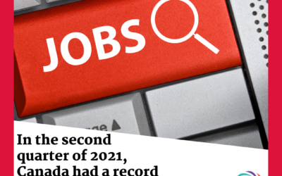 In the second quarter of 2021, Canada had a record amount of job openings.
